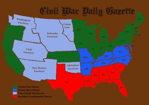 Map Builder - Causes of the Civil War